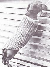 DACHSHUND COAT 8ply or D.K.   - COPY dog knitting pattern