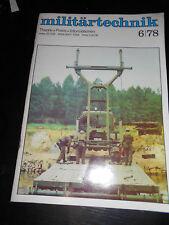 Militärtechnik 6/1978, Zeitschrift der Land-, Luft- und Seestreitkräfte NVA DDR