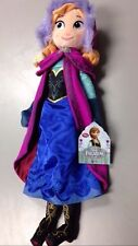 "Genuine Disney Store Frozen Beautiful Anna Plush Doll 20"" w/ Great Details, NEW"