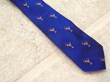 vineyard vines Blue Partini Cocktail Pattern Skinny Tie NWT $85 Made in USA Blue