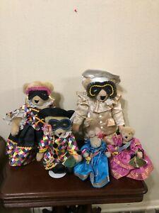 Vanderbear Family Bal Masque 5 Bears North American 1991 Alice Cornelius