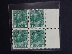 "#104 MNH  Block of 4  1 cent King George V ""Admiral"" issue    CV = $400+"