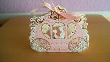 5 Geldgeschenk - Geschenkverpackungen °Kutsche° zur Hochzeit - rosa - sehr edel