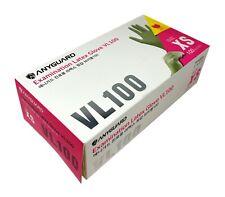 100 PCS Vinyl Examination Gloves Powder Free Gloves (XS,S) Latex