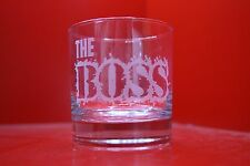 """Laser Engraved """"The Boss"""" Tumbler Glass Gift"""