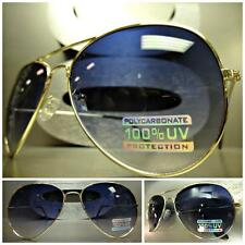 CLASSIC VINTAGE RETRO Style SUN GLASSES SHADES Large Gold Frame Gradient Lens