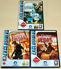 4 PC SPIELE SAMMLUNG - TOM CLANCY'S RAINBOW SIX VEGAS & GHOST RECON ADVANCED 1 2