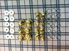 ONE SET(18) OF ANODIZED BUTTONS FOR U.S.M.C.  Dress Blue