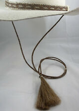 Stay-put Cowboy hat horsehair stampede string-hat string cotter pin sorrel-brown