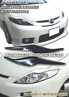Headlights Eyelids Eyebrows (ABS Black) Fits 06-07 Mazda 5