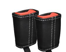 White stitch fits MERCEDES CLASSE C W202 93-00 2x ceinture en cuir couvre