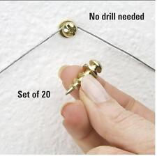 Picture Screws Set of 20, Hang Wall Decor In One Step, Screw On Easily