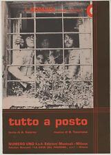 I NOMADI tutto a posto spartito sheet music un disco per l'estate '74