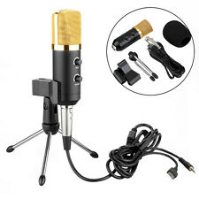 New Professional USB Podcast Condenser PC Microphone Recording with Stand Tripod