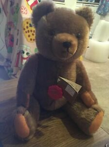 """1988 Hermann Original 15"""" jointed Teddy Bear  81/36 Hand Made in W Germany LNWT"""