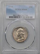 1940 25C Washington Quarter PCGS MS64 Very Original Undipped Coin
