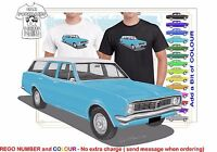 CLASSIC 69-70 HT HOLDEN WAGON ILLUSTRATED T-SHIRT MUSCLE RETRO SPORTS
