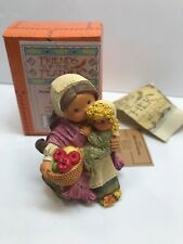 Enesco Friends Of The Feather~ Fruitful Blessings~Pilgrim Woman With Child Fig.
