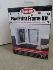 Memory Paw Print Frame Kit in Box Put Pets Prints in Plaster Includes everything