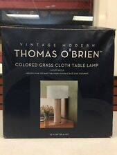 Thomas O'brien  Vintage  Modern Colored Grass cloth table lamp 23 Inch Tall