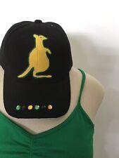 Brand New Black Jamaican  Baseball Cap. Kangaroo style With Rhinestone.