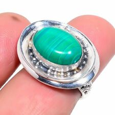 Jewelry Ring s.6 214-29 Malachite 925 Sterling Silver