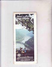 VINTAGE MAP----1988 OHIO--- WEST VIRGINIA