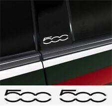 4x Fiat 500 Aufkleber Logo Simbol Vinyl 3M