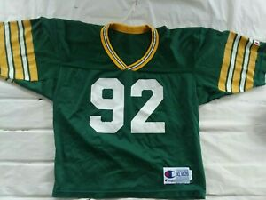 Vintage Reggie White Green Bay Packers Champion Youth Football Jersey size Xl