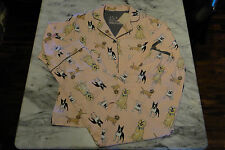 New PJ Salvage Flannel DOG BREED Pajama Set *Large* Golden Retriever-Dachshund