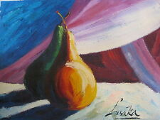 "Original Hand Painted ""Neste Twin Pears"" 12x16 Oil Painting Food Art"