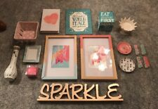 Ceramic Sign Pics Metal Shabby Chic Girls Bedroom Decor Lot Of 17 Pieces