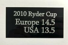2010 Ryder Cup Score - 5x3 inch Engraved Plaque Signed Golf Flag / Memorabilia