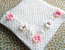 Hand Crochet Floral Baby Blanket