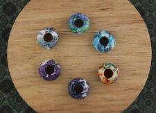Set of 6 Dyed Jade Gemstone Dreadlock Beads 6mm Hole (1/4 Inch) Dread Jewellery