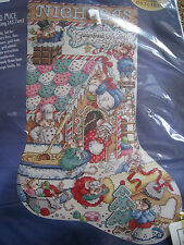 "Christmas Bucilla Counted Cross Stocking Kit,GINGERBREAD MICE,Orton,18"",#83999"