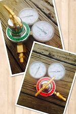PROPANE & OXYGEN SET OF 2 TORCH REGULATORS FOR BRAZING,CUTTING AND WELDING