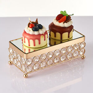 Metal Crystal Dessert Snack Cake Stand Base Display Stand Tray for Party Wedding
