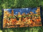 Antique Spanish Dancing Music Velour Colosseum Towers Wall Art Rug Tapestry