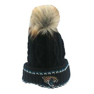 Jacksonville Jaguars NFL Youth Girls (7-16) OSFM Winter Knit Beanie Hat Cap New