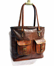 Genuine Pure Leather Vintage Handmade Shopping Women's Shoulder Bag
