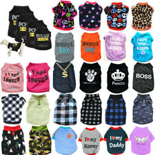 Pet Puppy Small Dog Cotton Costume Coat Apparel Cat Clothes Dress Vest T Shirt