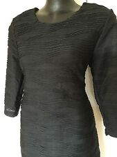 Size 14 Black Ruched Effect Shift Dress