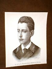 Sua Altezza Reale il Principe Luigi Amedeo di Savoia nel 1887