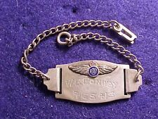 ORIGINAL WWII RCAF CANADIAN STERLING ID BRACELET NAMED WITH WINGS