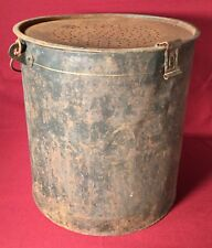 Antique St. Lawrence Bait Bucket Fishing Pail Metal Collectible Deco