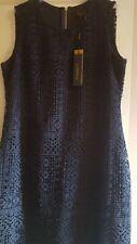 BNWT DonnaKaran for Ladies a beautifull crochet looks Navy colour dress  Size 12