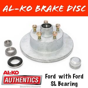 ALKO GALVANISED FORD BRAKE DISC WITH FORD BEARINGS