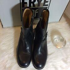 FRYE Women's Lynn Strap Short Boot, Black, 9.5 M US