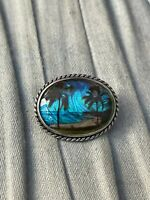 Butterfly Wing Brooch Sterling Silver Beach Art Deco Vintage Costume Jewellery